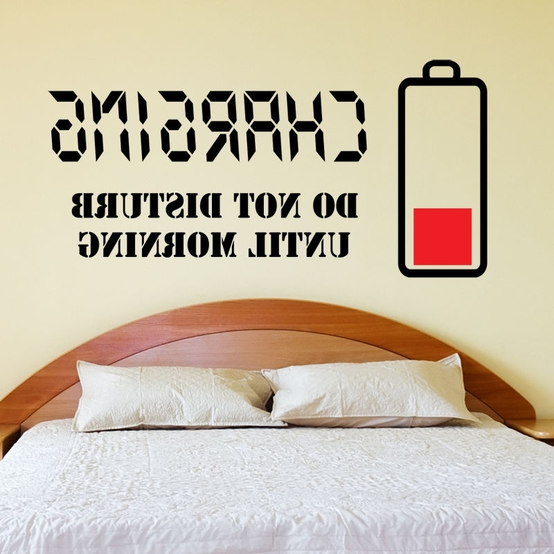 Teenage Wall Art With Regard To Most Up To Date Charging Do Not Disturb Wall Sticker Wall Quote Art Decal Teenager (View 9 of 15)