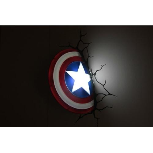 The Avengers 3D Wall Art Nightlight – Captain America Throughout Preferred 3D Wall Art Captain America Night Light (View 14 of 15)