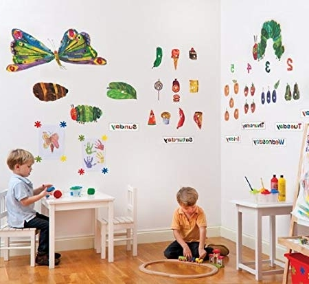 The Very Hungry Caterpillar Nursery And Playroom Wall Sticker Décor In Popular Very Hungry Caterpillar Wall Art (View 8 of 15)