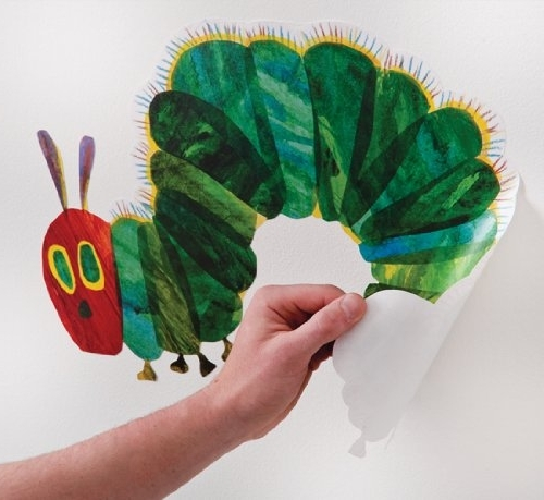 The Very Hungry Caterpillar Nursery And Playroom Wall Sticker Décor Intended For Latest Very Hungry Caterpillar Wall Art (View 9 of 15)