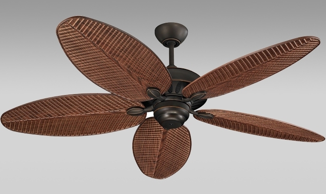 Thejobheadquarters Inside Outdoor Ceiling Fans With Leaf Blades (View 5 of 15)