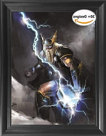 Thor Hammer 3D Wall Art Pertaining To Most Recently Released Amazon: Thor's Hammer Framed 3D Lenticular Picture (View 14 of 15)