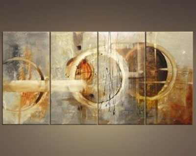 Three Signs Of Rain Modern Canvas Art Wall Decor Abstract Oil With Regard To Well Known Abstract Wall Art Canvas (View 12 of 15)