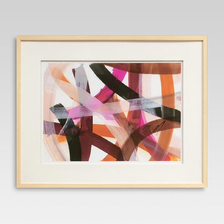 Threshold Framed Strokes Abstract Wall Art Intended For Famous Framed Abstract Wall Art (View 3 of 15)