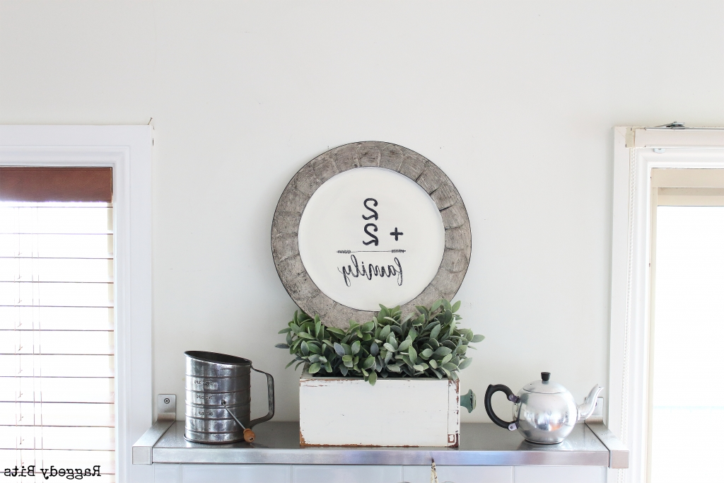 Thrifted Plate Farmhouse Wall Art With Regard To Recent Farmhouse Wall Art (View 13 of 15)