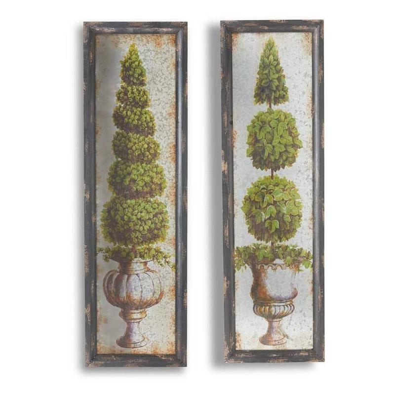 Topiary Wall Art Framed Tin Topiary Print 2 Styles – Art Progressive Intended For Recent Topiary Wall Art (View 9 of 15)