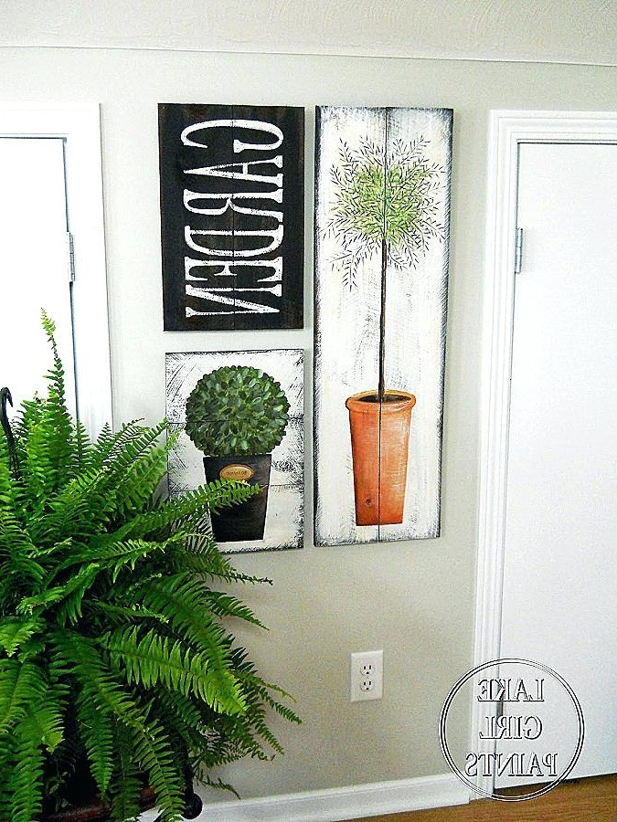 Topiary Wall Art Topiary Wall Art Fresh Lake Girl Paints Topiary With Regard To Trendy Topiary Wall Art (View 12 of 15)