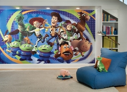 Toy Story 3 Pre Pasted Wall Murals – Huge Realistic Wall Decor Of Within Newest Toy Story Wall Stickers (View 9 of 15)