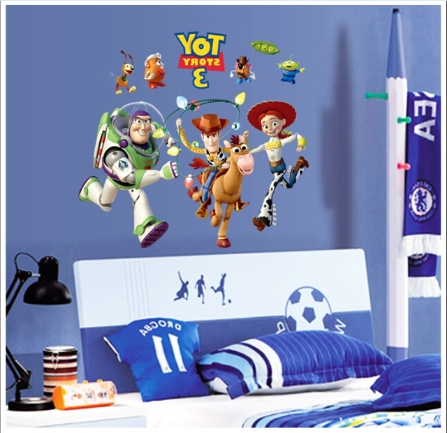 Toy Story Wall Art Decal – Kids Bedroom Wall Art Inside Preferred Toy Story Wall Art (View 9 of 15)