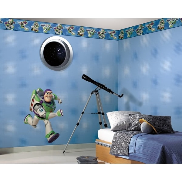 Toy Story Wall Stickers Regarding 2018 Disney Toy Story Buzz Giant Wall Stickers (View 8 of 15)