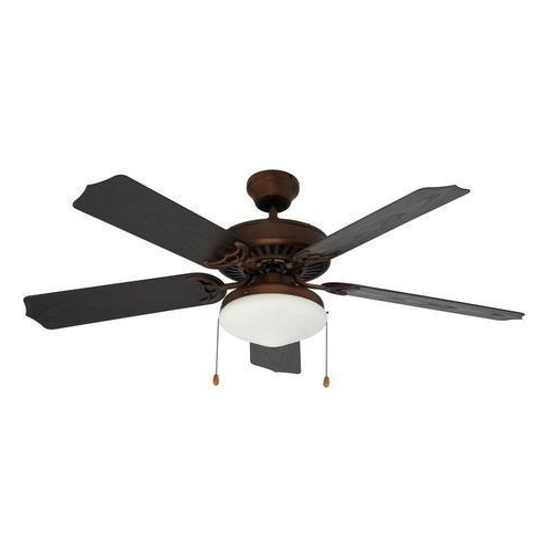 "Trans Globe Lighting F 1003 Rob Outdoor Ceiling Fan 52"" Rubbed Oil Intended For Best And Newest Outdoor Ceiling Fans With Light Globes (View 13 of 15)"