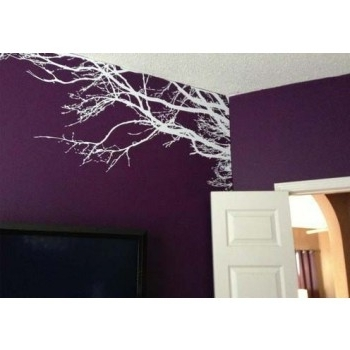Tree Branch Wall Art Within Well Known Vinyl Wall Decal Sticker Art Tree Top Branches Home Decor (View 9 of 15)