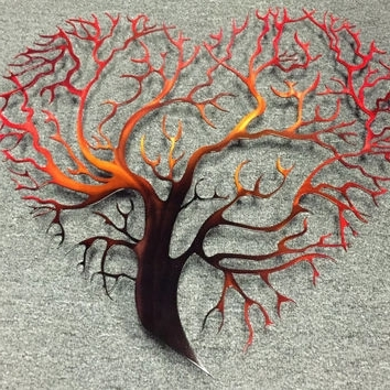 Tree Heart Metal Wall Art – Tree Metal From Inspiremetals On Etsy In Preferred Abstract Heart Wall Art (View 14 of 15)