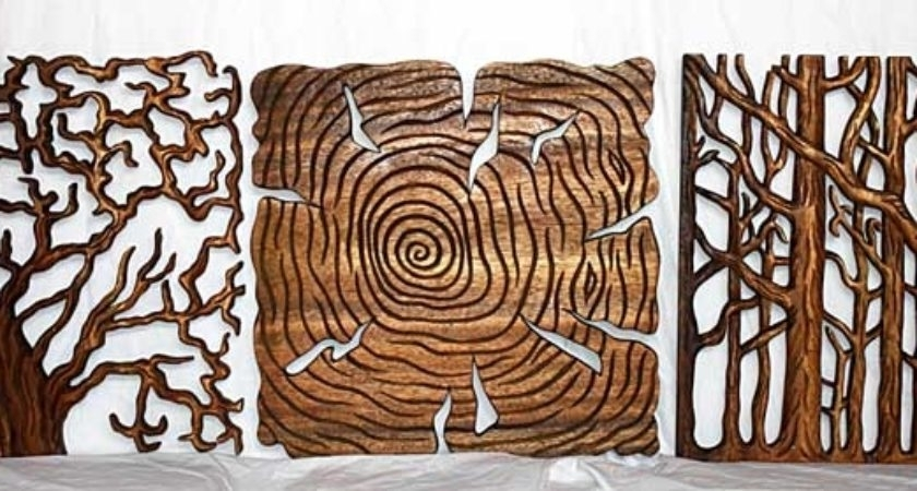 Tree Life Art Wall Decor Carved Natural Wood Pane Kan Thai – Home Pertaining To Trendy Natural Wood Wall Art (View 10 of 15)