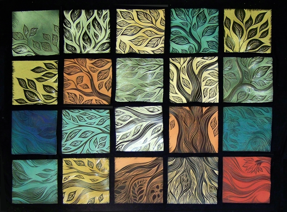 Tree Of Life Ceramic Wall Tiles Natalie Blake Studios Abstract Tile Throughout Famous Abstract Ceramic Wall Art (View 6 of 15)