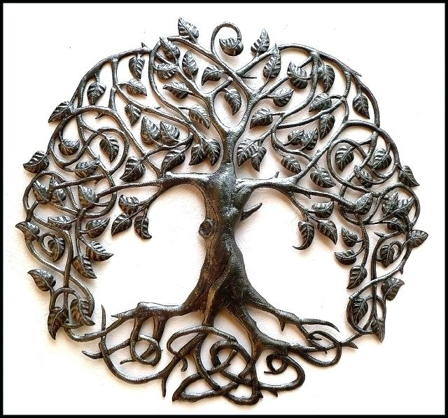 Tree Of Life Metal Wall Art Handcrafted Metal Tree Wall Hanging Regarding 2017 Celtic Tree Of Life Wall Art (View 11 of 15)