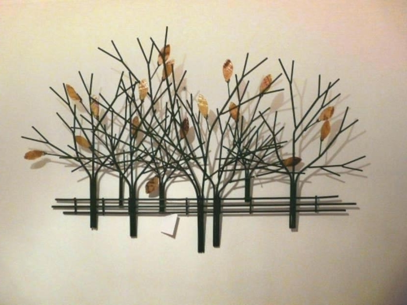 Tree Wall Art Sculpture Image Of Perfect Metal Tree Wall Art Wire Inside Fashionable Metal Tree Wall Art Sculpture (View 14 of 15)