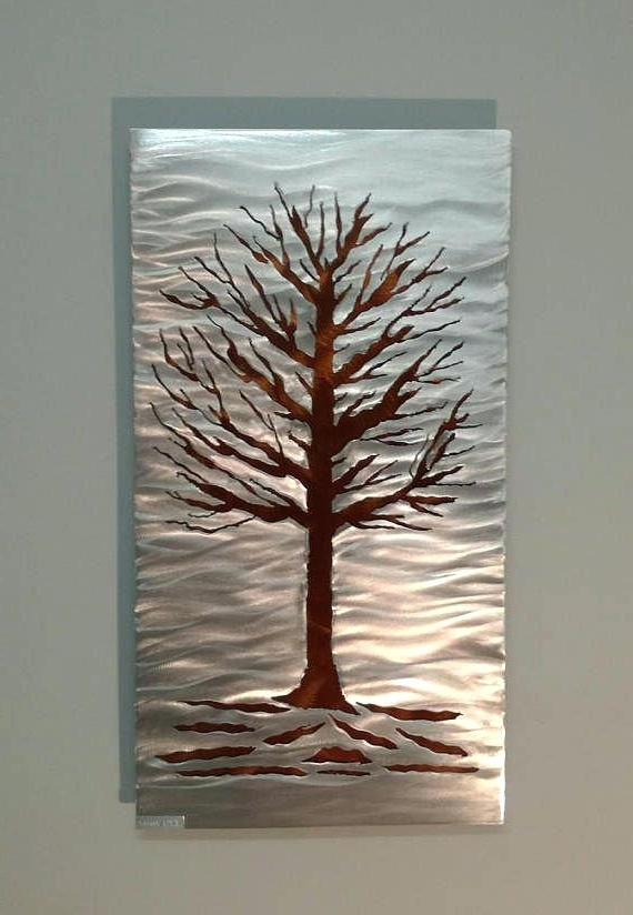 Tree Wall Art Sculpture Within 2017 Metal Art Wall Sculpture Modern Wall Sculpture Tree Of Life (View 10 of 15)