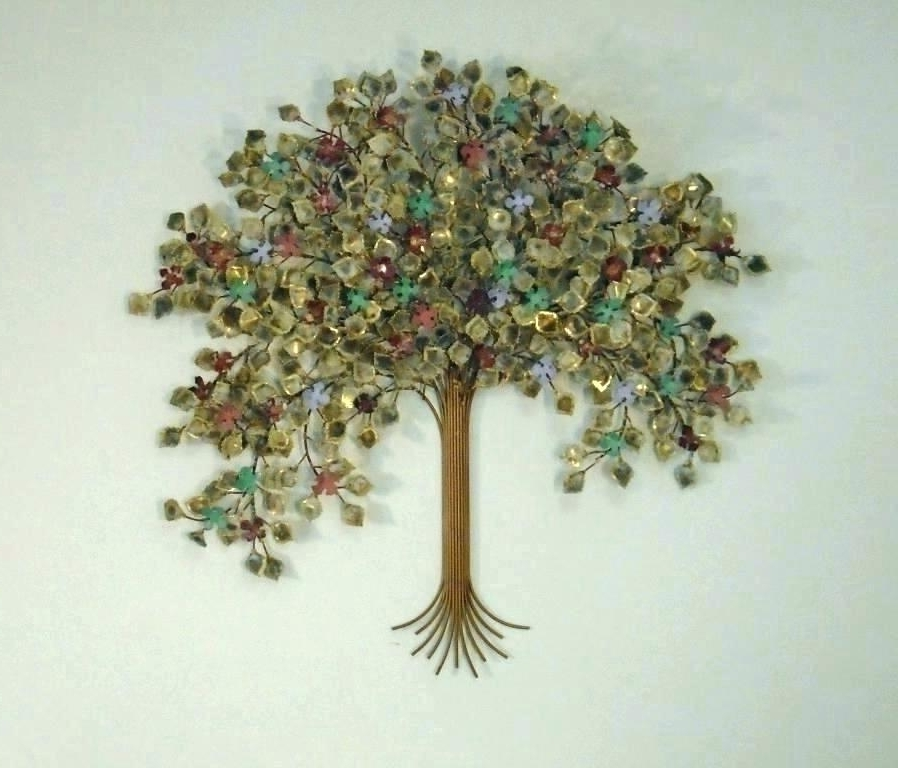 Trees Wall Sculpture Tree Wall Art Metal Tree Metal Wall Art Metal Intended For Most Recently Released Metal Tree Wall Art Sculpture (View 14 of 15)