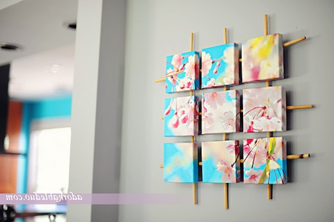 Trendy 24 Awesome Diy Canvas Art Ideas (View 3 of 15)