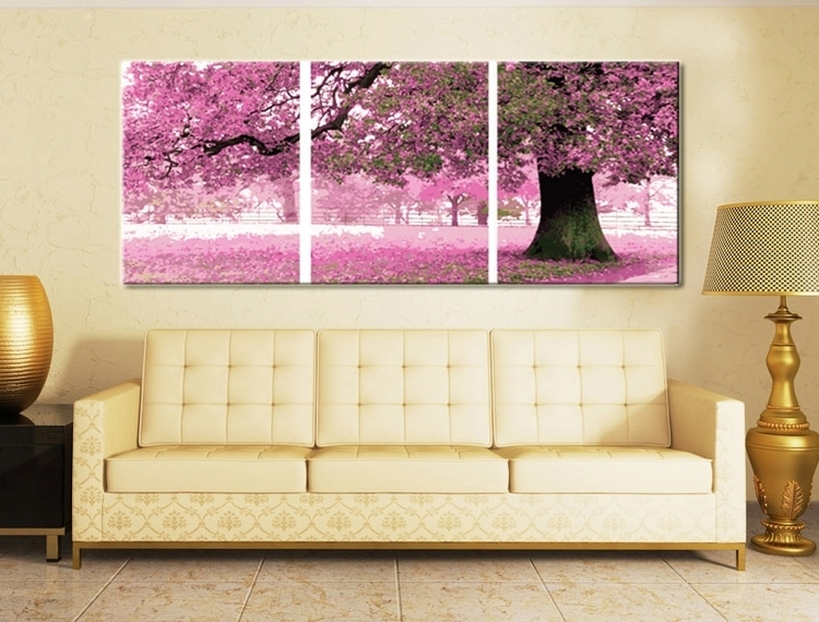 Trendy 3 Pc Canvas Wall Art Sets Intended For Framed 3 Piece Canvas Wall Art Sets Digital Oil Paintingnumbers (View 4 of 15)