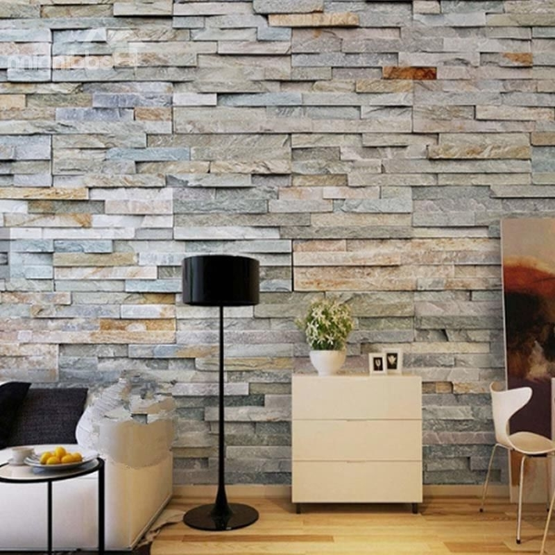 Trendy 3D Brick Wall Printed Sturdy Waterproof And Eco Friendly Wall Mural For 3D Brick Wall Art (View 7 of 15)