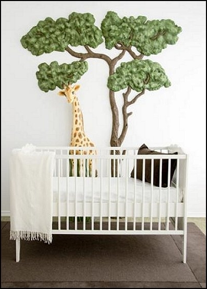 Trendy 3D Wall Art For Baby Nursery With Modern House Plans: Jungle Baby Bedrooms – Jungle Theme Nursery (View 13 of 15)