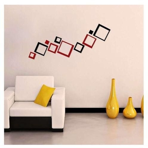 Trendy 3D Wall Art Unique 3D Diy (Do It Yourself) Red & Black Acrylic Pertaining To Do It Yourself 3D Wall Art (View 13 of 15)