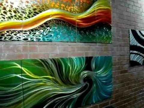 Trendy Abstract Aluminium Wall Art Pertaining To Fabuart Abstract Metal Wall Art Artwork Toronto Montreal Aluminium (View 14 of 15)