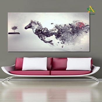 Trendy Abstract Horse Wall Art With Digital Print Canvas Wall Art Abstract Horse Painting For Home (View 14 of 15)
