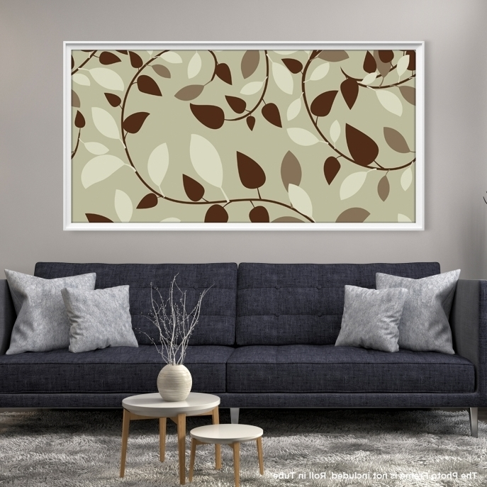 Trendy Abstract Leaves Canvas Print – Mygreatcanvas (View 15 of 15)