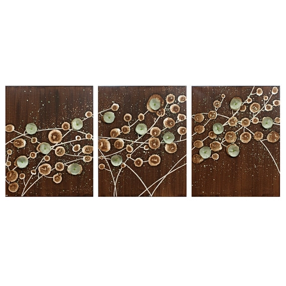 Trendy Abstract Nature Wall Art Throughout Nature Wall Art Abstract Painting On Canvas Brown And Green, Brown (View 7 of 15)