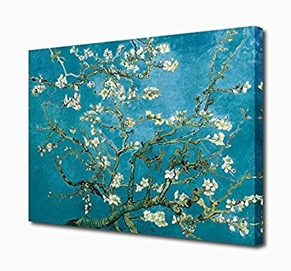 Trendy Almond Blossoms Vincent Van Gogh Wall Art Throughout Amazon: Wall Art Canvas Prints Branches With Almond Blossom (View 2 of 15)