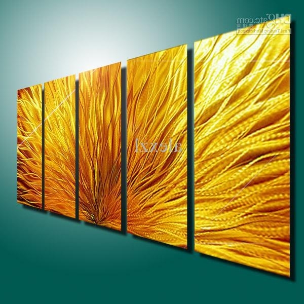 Trendy Aluminum Abstract Wall Art Pertaining To 2018 Metal Modern Abstract Wall Art Painting Sculpture Decor (View 4 of 15)