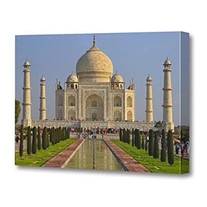 Trendy Amazon: Torass Canvas Wall Art Print Sightsee Taj Mahal Regarding Taj Mahal Wall Art (View 11 of 15)