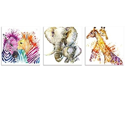 Trendy Amazon: Visual Art Decor Abstract Animals Canvas Wall Art Zebra With Regard To Abstract Animal Wall Art (View 7 of 15)