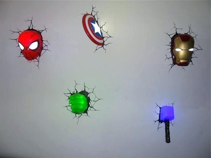 Trendy Avengers 3D Wall Art For Wall Lights Or Hammer Light Marvel Avengers Man Hand New And (View 14 of 15)