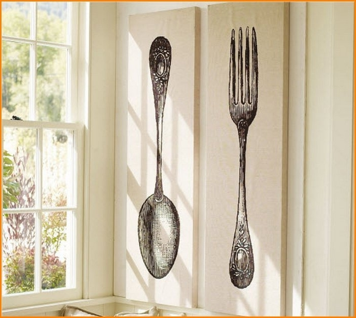 Trendy Big Spoon And Fork Wall Decor Throughout Unusual Design Fork Wall Decor – Ishlepark (View 8 of 15)