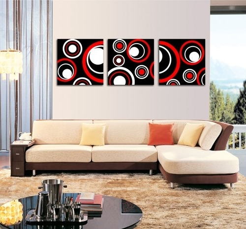 Trendy Black And White Wall Art With Red Intended For Amazon: Spirit Up Art Huge Red And Black And White Abstract Art (View 11 of 15)