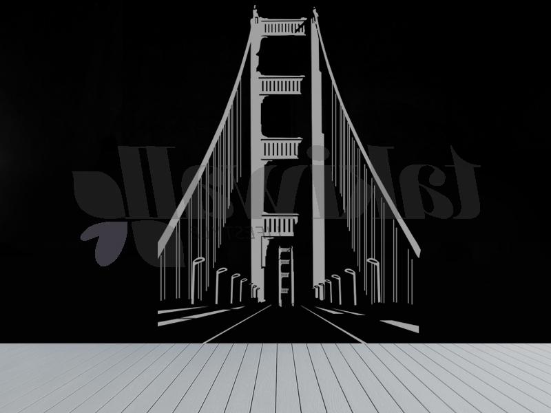 Trendy Brooklyn Bridge Wall Decals In Brooklyn Bridge Abstract Print Wall Sticker Shop Doha Qatar (View 13 of 15)