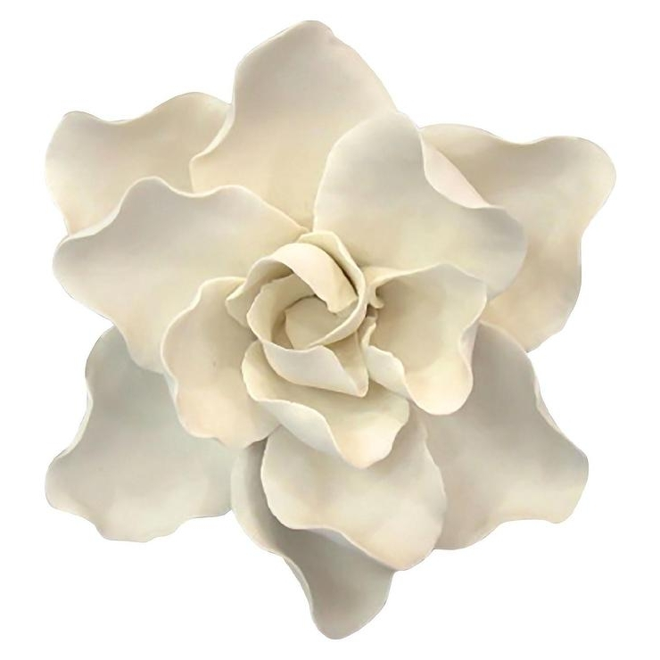 Trendy Ceramic Flower Wall Art With Regard To White Ceramic Flower Wall Art (View 1 of 15)