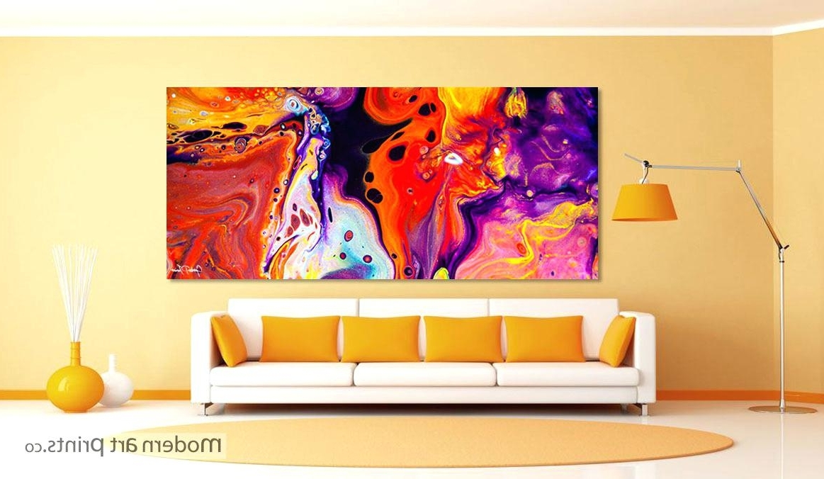 Trendy Colorful Abstract Wall Art Pertaining To Abstract Wall Painting 3 Piece Wall Art Home Decor Abstract Artwork (View 12 of 15)