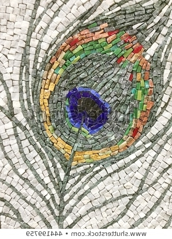 Trendy Colorful Stone Mosaic Art Abstract Wall Stock Photo (Edit Now For Abstract Mosaic Art On Wall (View 15 of 15)