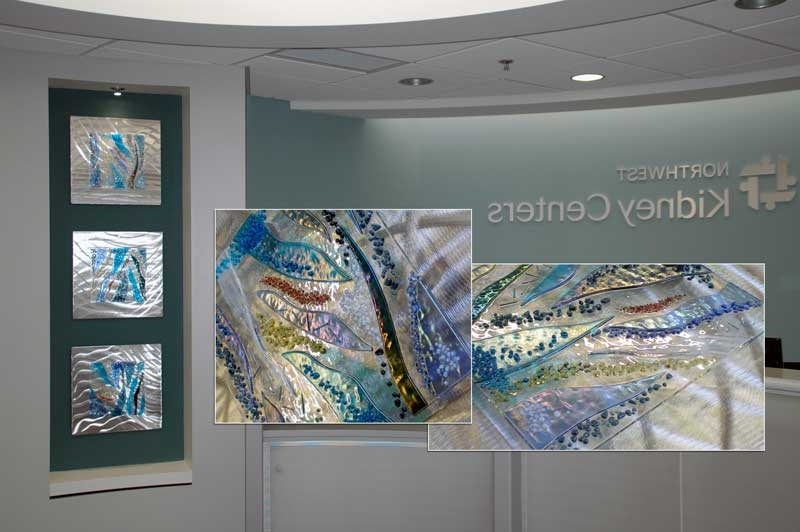 Trendy Commercial Wall Art With Regard To Evidence Based Design Fused Glass & Metal Wall Art, Glass Wall Art (View 15 of 15)