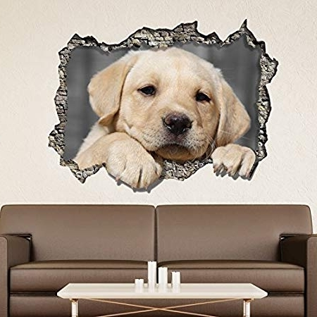 Trendy Dogs 3D Wall Art In Wallflexi Wall Stickers View Through The 3D Wall – Dog Wall Art (View 14 of 15)