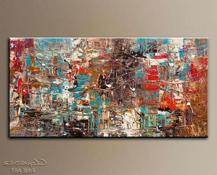 Trendy Enchanting Large Wall Painting Large Abstract Art For Sale Online Pertaining To India Abstract Wall Art (View 7 of 15)