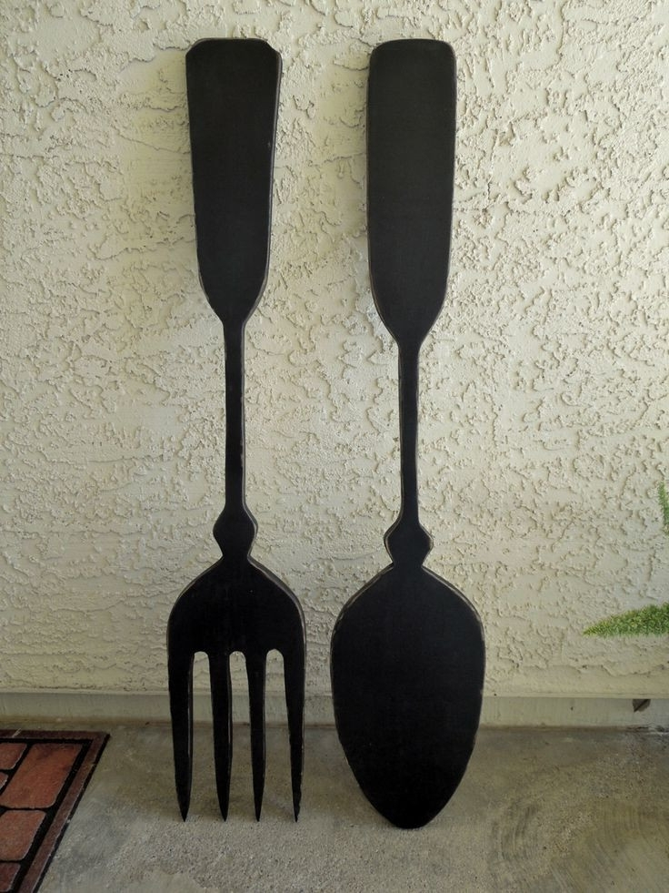 Trendy Fashionable Giant Spoon And Fork Wall Decor Home Ideas Stunning With Throughout Big Spoon And Fork Wall Decor (View 13 of 15)