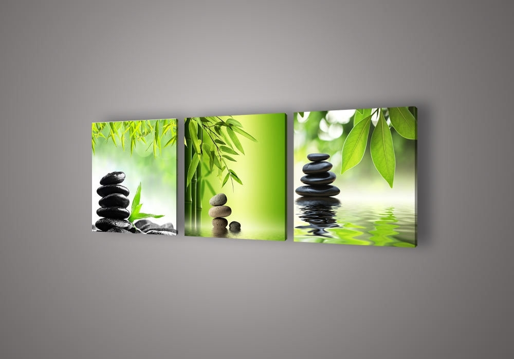 Trendy Feng Shui Wall Art – Elitflat With Green Canvas Wall Art (View 12 of 15)