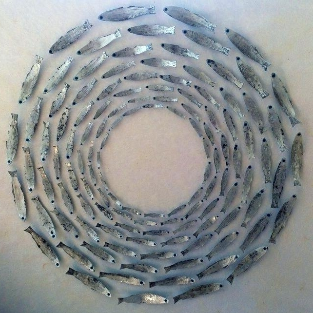 Trendy Fish Shoal Metal Wall Art Best Fish Mobile Images On Fish Mobile Regarding Shoal Of Fish Metal Wall Art (View 14 of 15)