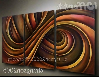 Trendy Framed! Modern Abstract Wall Art Oil On Canvas Painting For Sale Pertaining To Modern Abstract Wall Art Painting (View 5 of 15)